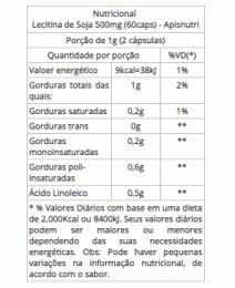 Lecitina de Soja 500mg (60caps)