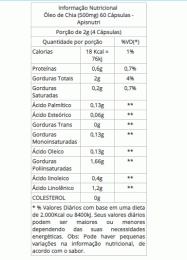 Óleo de Chia 500mg (60 caps)